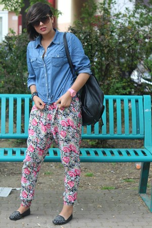 Icewatch watch - Primark shoes - Zara bag - pull&bear pants - H&M blouse