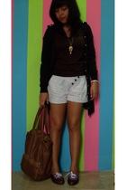 shirt - accessories - Mango purse - shorts - shoes