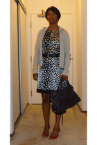 abercrombie & fitch jacket - Zara dress - Prada shoes - balenciaga purse