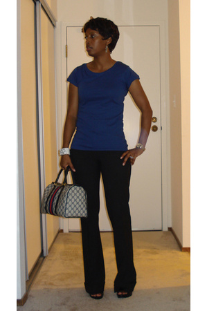 Zara t-shirt - Express pants - office uk shoes - Gucci purse