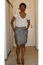 Urban Outfitters t-shirt - The Limited skirt - Prada shoes