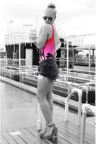Levis shorts - Mango sunglasses - Monki swimwear - Zara heels