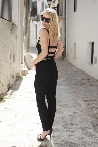 asos bodysuit - Zara heels