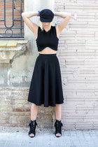 H&M hat - Alexander Wang boots - Zara top - American Apparel skirt