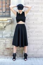 H&M hat - Alexander Wang boots - Zara top - American Apparel skirt
