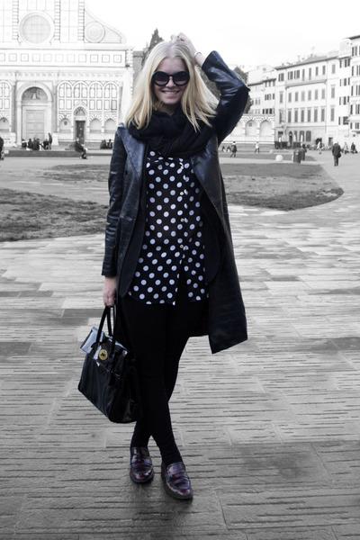 Mulberry bag - Zara coat - Chanel sunglasses
