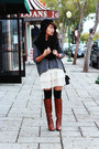 Tawny-knee-high-boots-beige-lace-lace-dress-dress