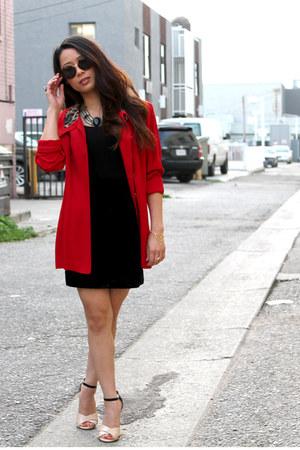 vintage coat - vintage skirt - Vince Camuto heels