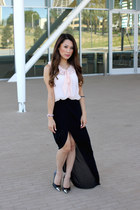 bubble gum Mink Pink top - black Lulus skirt - black black Luichiny heels