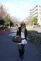 Louis Vuitton purse - from Tokyo accessories - ANAP dress - Gap blazer - christi