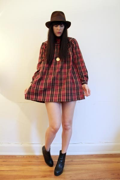 plaid smock Outofastrobe vintage dress