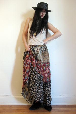 vintage skirt - thrifted vest