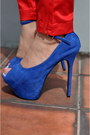 White-topshop-top-blue-suede-das-pumps