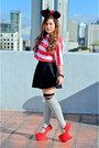 Heather-gray-forever-21-socks-ruby-red-suede-das-heels-black-k-by-js-skirt