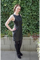 black leather REPLAY boots - black fake leather Barneys dress