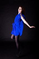 blue asos dress - black JustFab heels