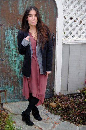 funktional dress - Jeffrey Campbell boots - madewell blazer