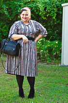 black vintage dress vintage dress - black black tights We Love Colors tights