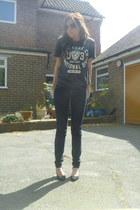 asos heels - new look jeans - Primark t-shirt