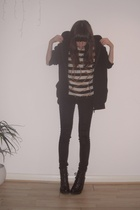 white vintage top - black emma cook topshop shoes - black Cheap Monday jeans