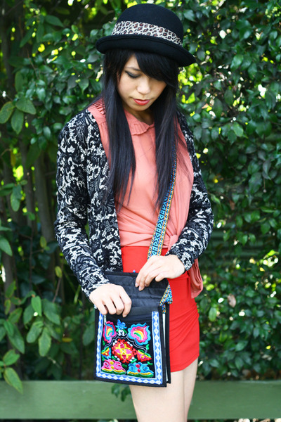 black gifted bag - black bardot cardigan
