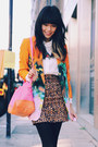 Orange-river-island-blazer-white-zara-shirt-bubble-gum-asos-bag