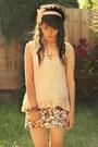Light-pink-cotton-on-top-vintage-skirt-beige-kisforkanietsycom-accessories