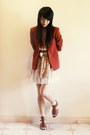 Light-pink-clubcouture-dress-maroon-vintage-blazer-brown-novo-wedges-off-w