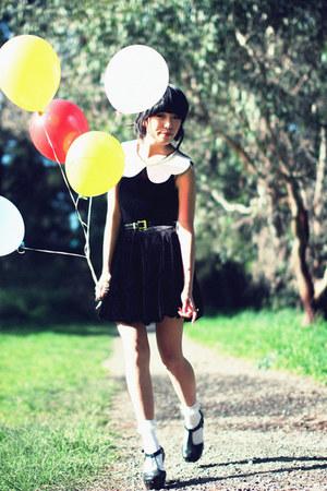 black velvet Forever 21 dress