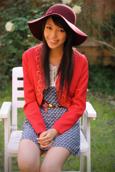 red vintage jacket