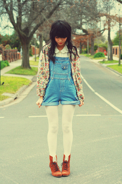 brown asos boots - eggshell vintage accessories