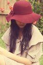 Beige-sunny-sideup-closet-dress-white-forever-new-belt-red-forever-21-hat-