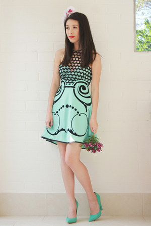 aquamarine alice mccall dress