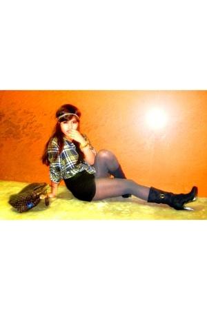 babo blouse - Charlotte Russe boots - H&M tights - Louis Vuitton purse