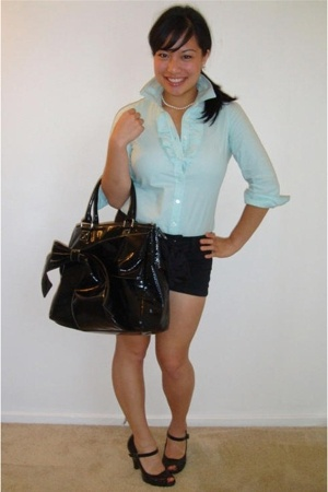 Old Navy blouse - forever 21 shorts - Miss Bisou shoes - Chinese Laundry purse