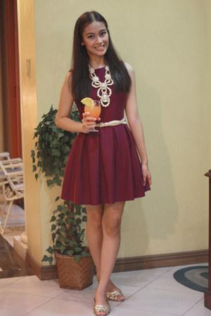magenta Topshop dress