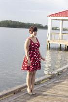 white kate spade bracelet - ruby red modcloth dress