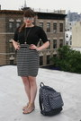 Black-forever-21-dress-charcoal-gray-yakpak-bag
