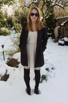 Zara dress - shoes - Zara coat - tights