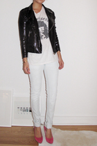 sequined biker jacket