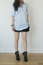 Jcrew shirt - APC shorts - LD Tuttle boots - Tom Binns bracelet