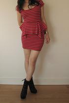 Topshop dress - Miu Miu boots