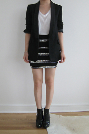 Opening Ceremony blazer - Helmut Lang top - skirt - Christian Louboutin boots