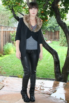 black bycorpus blazer - black Forever 21 pants - gray BDG shirt - black Urban Ou