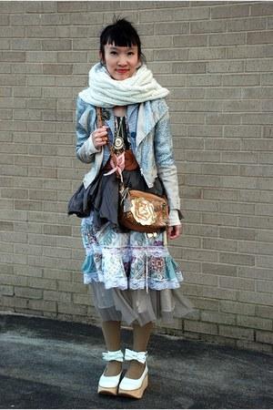 Forever 21 dress - Topshop blazer - Target scarf - Betsey Johnson bag - Forever
