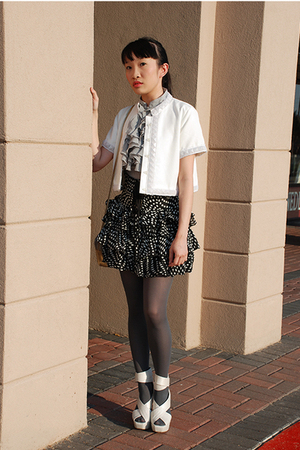 twelve by twelve jacket - Forever21 skirt - Urbanogcom shoes - Walmart blouse