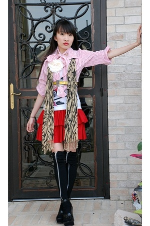 shirt - dress - AmiClubWear stockings - accessories - top - Latinas shoes