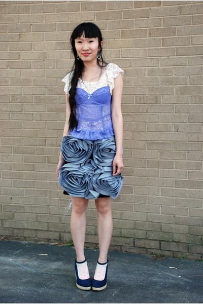 periwinkle Palais Royal intimate - Charlotte Russe top - asos skirt - volatile w