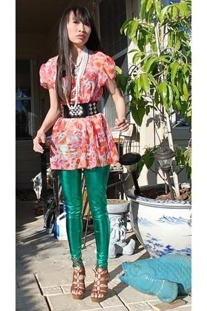 moms shirt - Zara pants - Delicious shoes - 579 belt