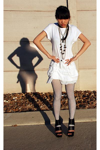 wal-mart shirt - Palais Royal skirt - GoJane shoes